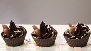 Chocolate Cups  New Year Special  Dessert Recipe By Ruchi Bharani