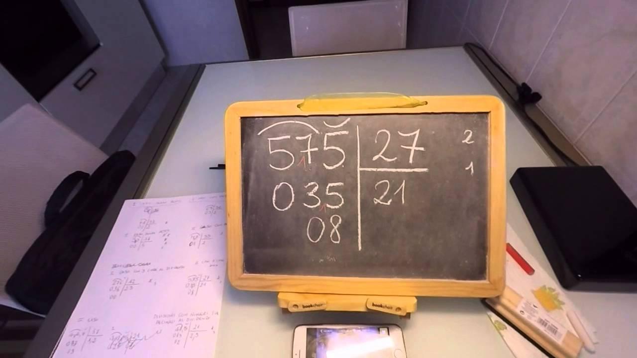 Come Eseguire Le Divisioni Con Due Cifre Al Divisore Youtube
