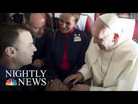 Pope Francis Marries Couple During Flight | NBC Nightly News
