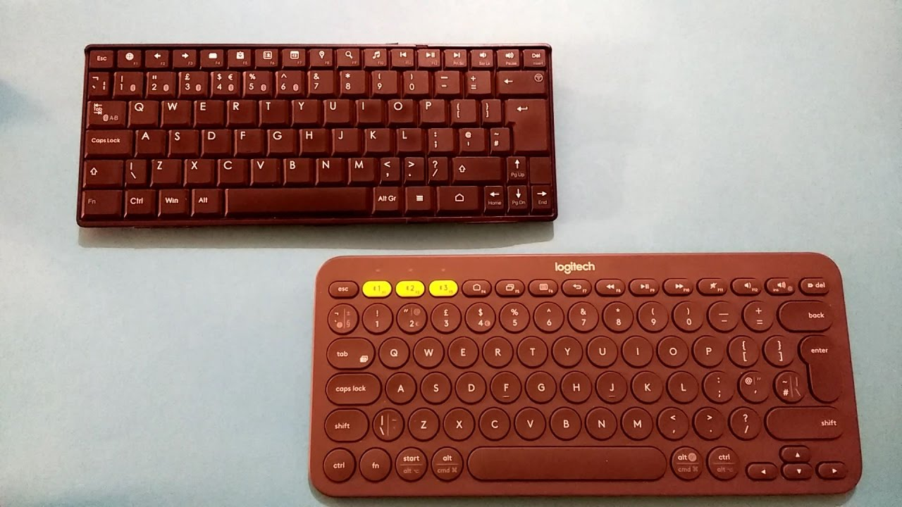 The Bluetooth Keyboards I use Maplins Mini and Logitech K380