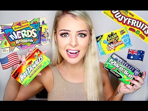 AUSTRALIAN TRIES AMERICAN CANDY!!
