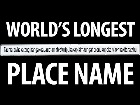 WORLD'S LONGEST PLACE NAME - 85 LETTERS!