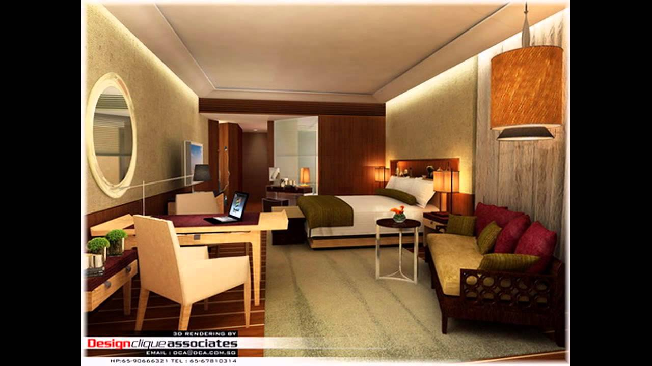 Hotel Room Interior Design Glamorous Best Hotel Room Interior Design  Youtube Decorating Inspiration