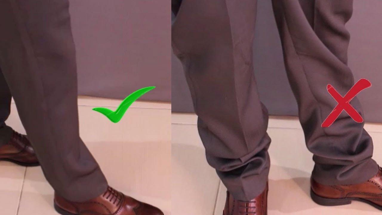 7256f6d4a Tamanho e Caimento Correto da Calça Social   Moda Masculina - YouTube