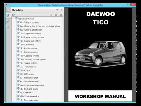 daewoo tico workshop service repair manual youtube rh youtube com daewoo damas service repair manual daewoo damas service repair manual download