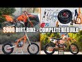 $900 dirt bike KTM 250SX complete rebuild - time lapse