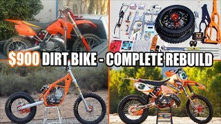 $900 dirt bike KTM 250SX complete rebuild - time lapse