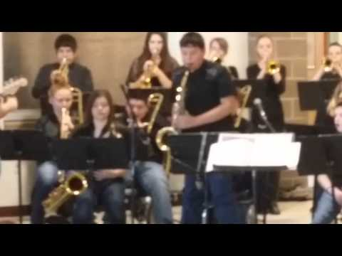 Cassidy playing in Parma middle school jazz band