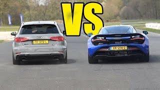 AUDI RS3 vs MCLAREN 675lt - DRAG RACE🚀🚀