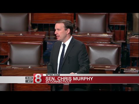 Sen. Chris Murphy speaks about gun violence on Senate floor