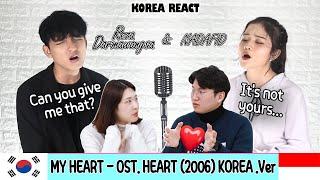 Download lagu 💙Korean Reaction💙MY HEART - OST. HEART [Korea.ver] (NADAFID Feat. REZA DARMAWANGSA)| Indonesia