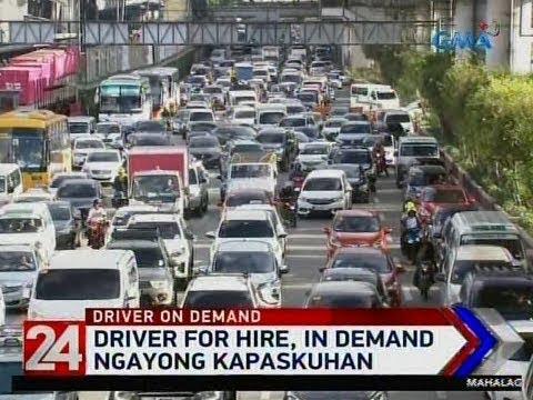 24 Oras: Driver for hire, in demand ngayong kapaskuhan