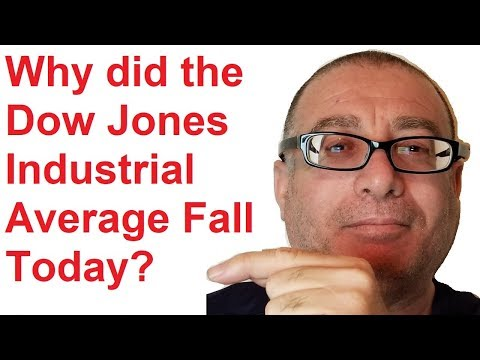 Why did the Dow Jones Industrial Average Fall Today?