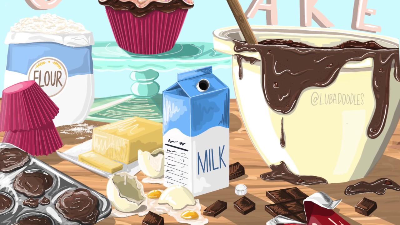 QUARANTINE CUPCAKES!  :) procreate art :)