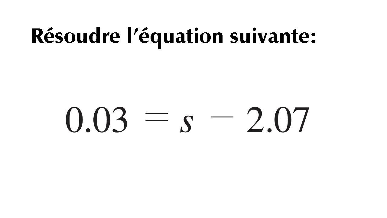 Résoudre une équation du premier degré à une inconnue