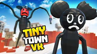 CARTOON MOUSE Has Escaped From A LAB In TINY TOWN  Tiny Town VR