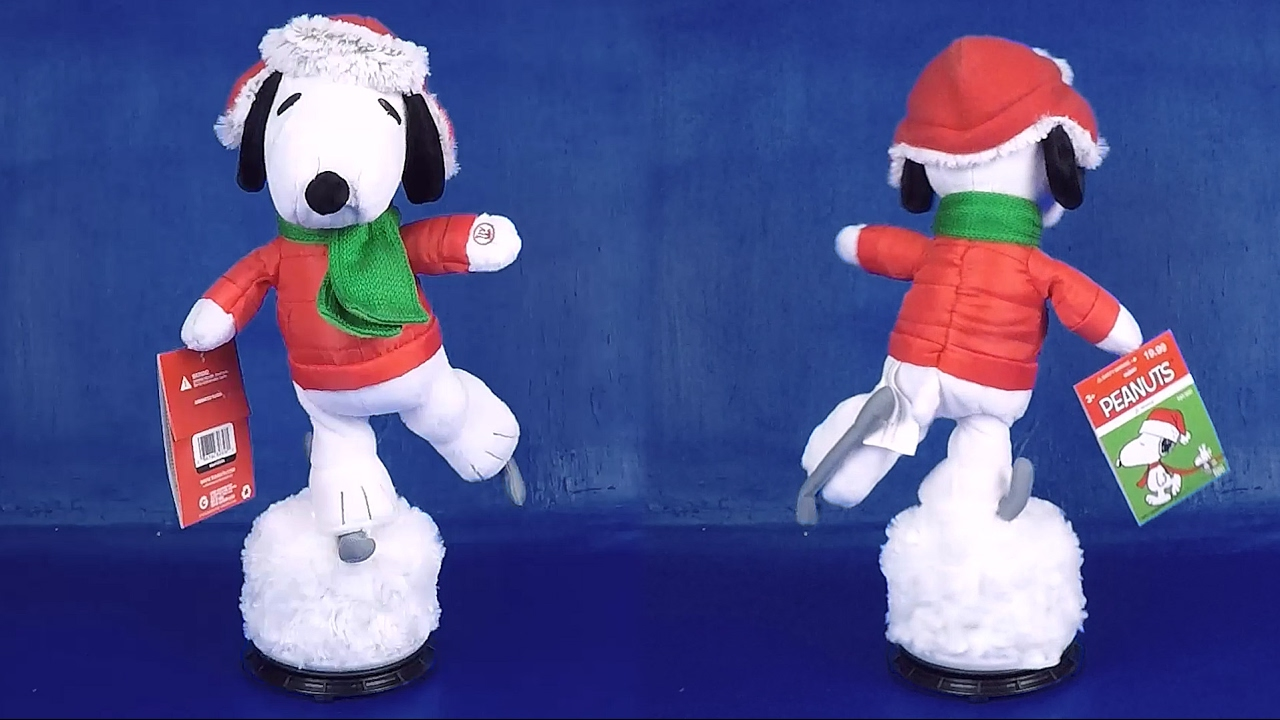 christmas 2016 animated ice skating snoopy christmas figures dolls peanuts theme song full episode - Animated Christmas Dolls