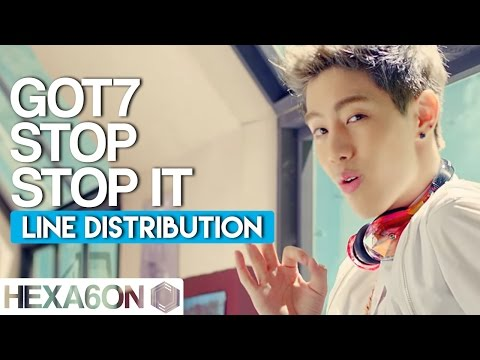 GOT7 - Stop Stop It Line Distribution (Color Coded)