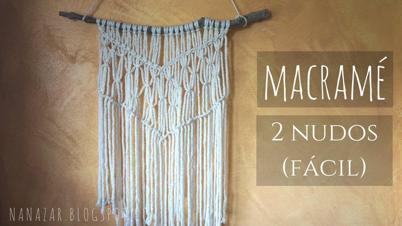 Tapiz macram wall macrame tapestry youtube - Tapices de macrame ...