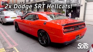 Supercars in London - 2 Dodge Challenger SRT HELLCATS