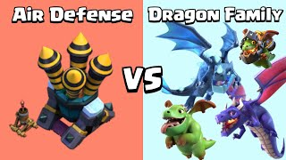 Every Level Dragon Family VS Every Level Air Defense | Dragon Competition | Clash of Clans