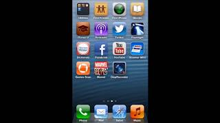 HOW TO MOVE  APPS FROM ONE PAGE TO ANOTHER PAGE IN IOS 6 (IPHONE 5/IPOD TOUCH)