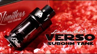 limitless Mod Co Verso SubOhm Tank Review and Setup