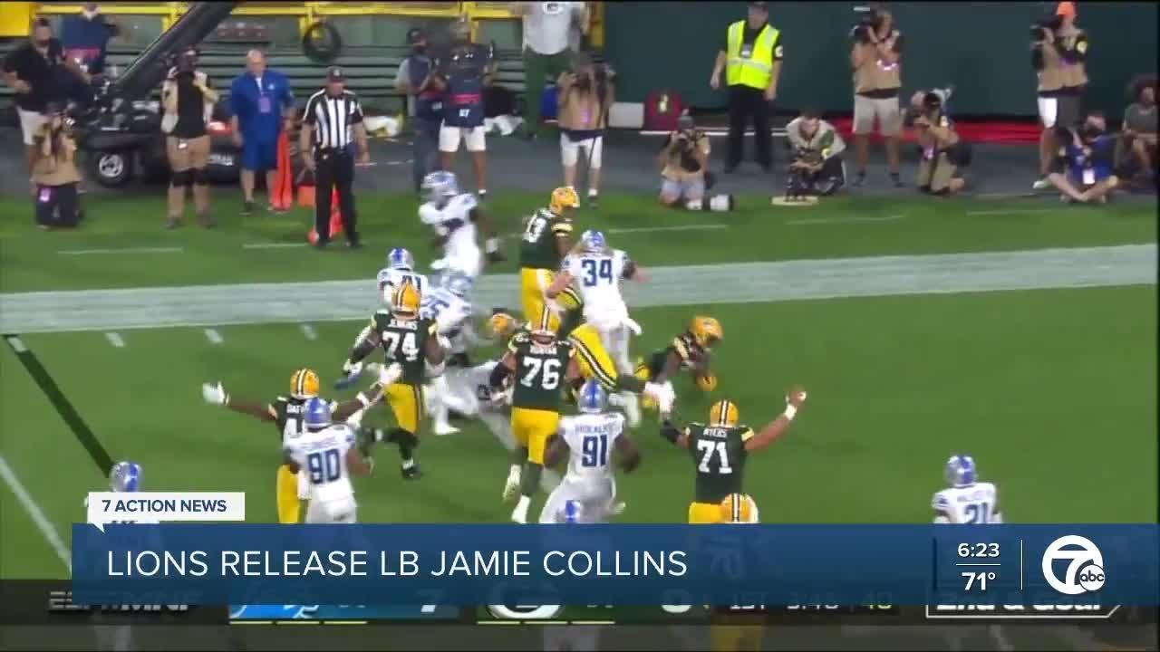Lions release LB Jamie Collins