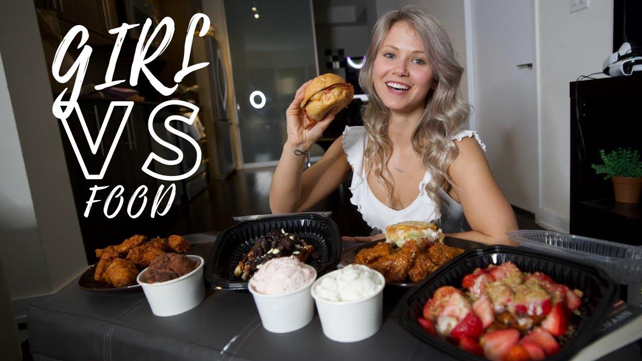 Girl Vs Food | Mukbang With Brandon Harding