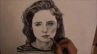 Skinny Love- Birdy speed drawing video