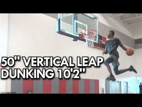 """Will Bunton's 50"""" Vertical Leap & Dunks put to the test on 10'2"""" Hoops!"""