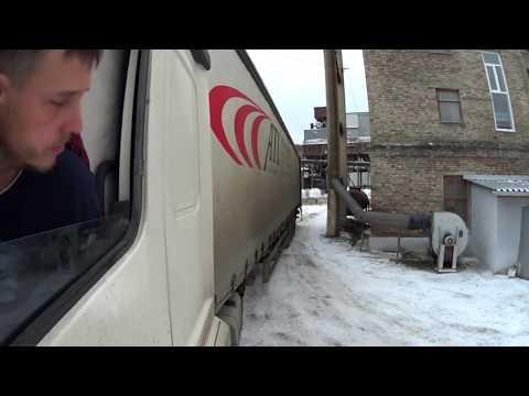Поездка в Вишнёвогорск, гололёд!