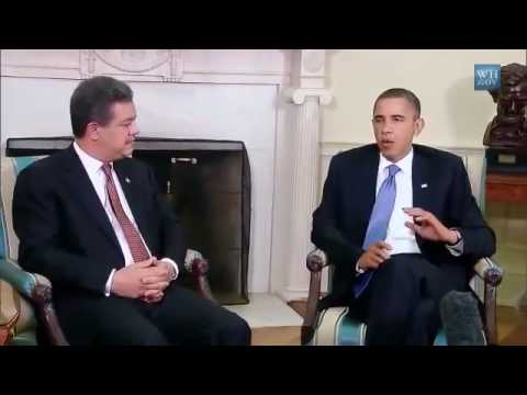 President Obama Meets with President Fernández of the Dominican Republic Discussing Drug Issues