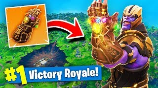 NEW THANOS INFINITY GAUNTLET GAMEPLAY In Fortnite Battle Royale