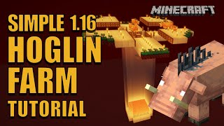 Easy Hoglin Farm - Minecraft Tutorial 1.16 Java - Leather and Pork Chop Farm