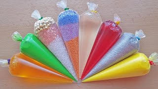 Making Crunchy Slime with Piping Bags #126