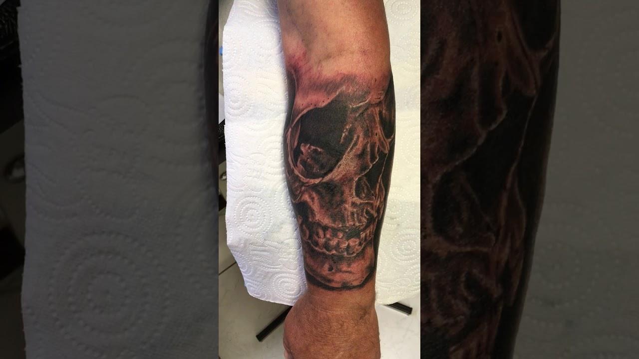 cb6f8254d Skull Tattoo arm - YouTube
