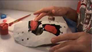 как сделать маску джейсона (часть 2) /how to make a mask of Jason