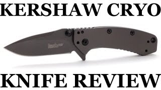 Kershaw Cryo Knife Review and Cutting Demo