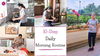 My 10 Step  Daily Morning Routine / Productive Morning Routine Indian