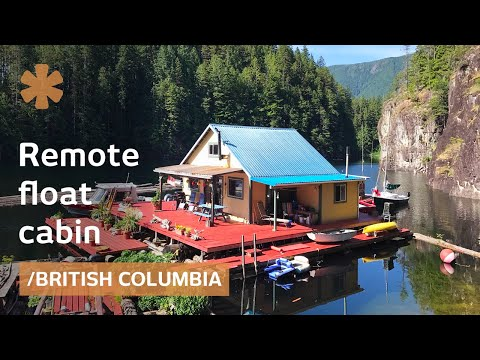 Off-grid float cabin: retirement tiny dream home in BC wilderness