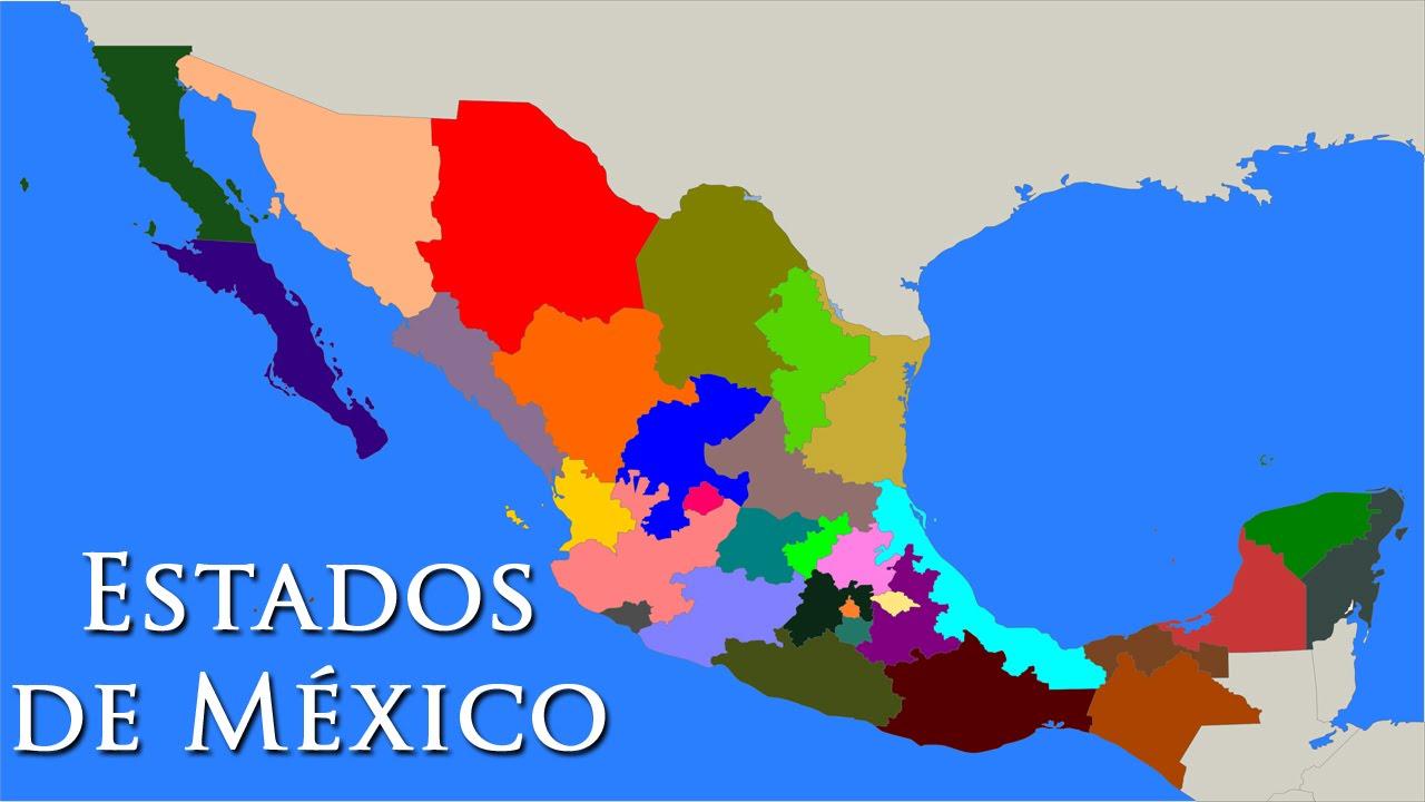 Estados De Mexico Mapa.Cuales Son Los 32 Estados De Mexico Y Sus Capitales Especial