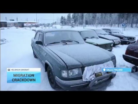 Illigal Immigration Crackdown: Abandoned cars line Russia-Finland border