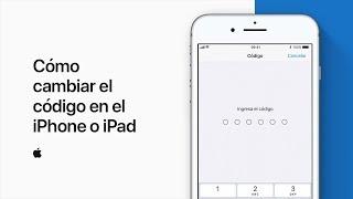 Cómo cambiar el código en el iPhone o iPad –  Soporte técnico de Apple