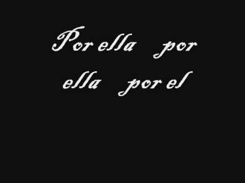 Letra de Por ella-Tronic