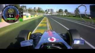 Lewis Hamilton Onboard Pole Position Lap - Australia 2012