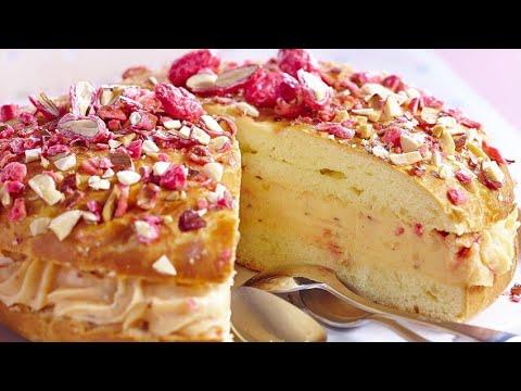 recette-:-tarte-tropézienne-aux-éclats-de-pralines-roses