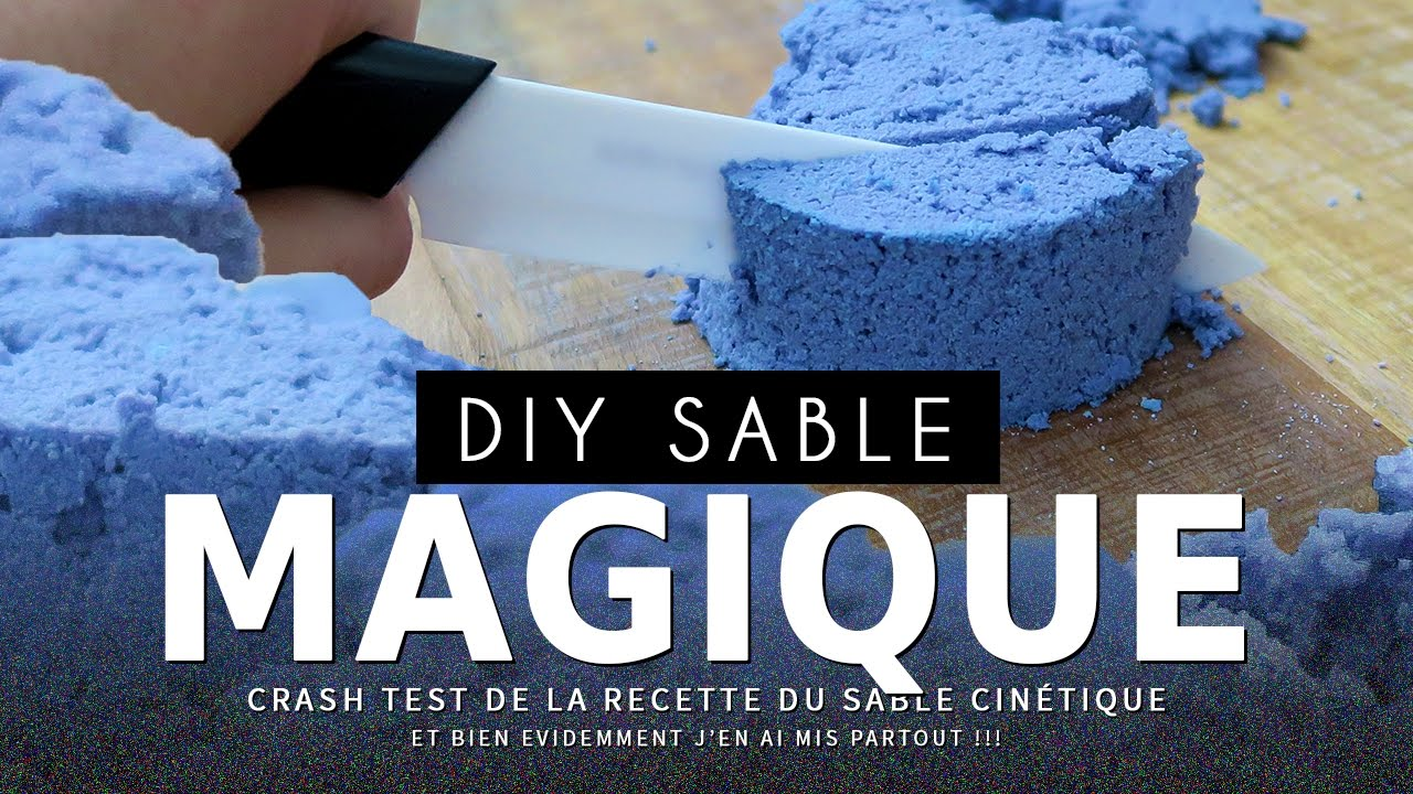 crash test fabriquer du sable magique kinetic sand youtube. Black Bedroom Furniture Sets. Home Design Ideas