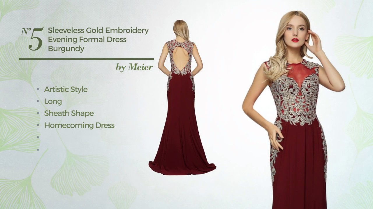 10 Eye Catching burgundy and gold prom dresses Availble At Amazon ...