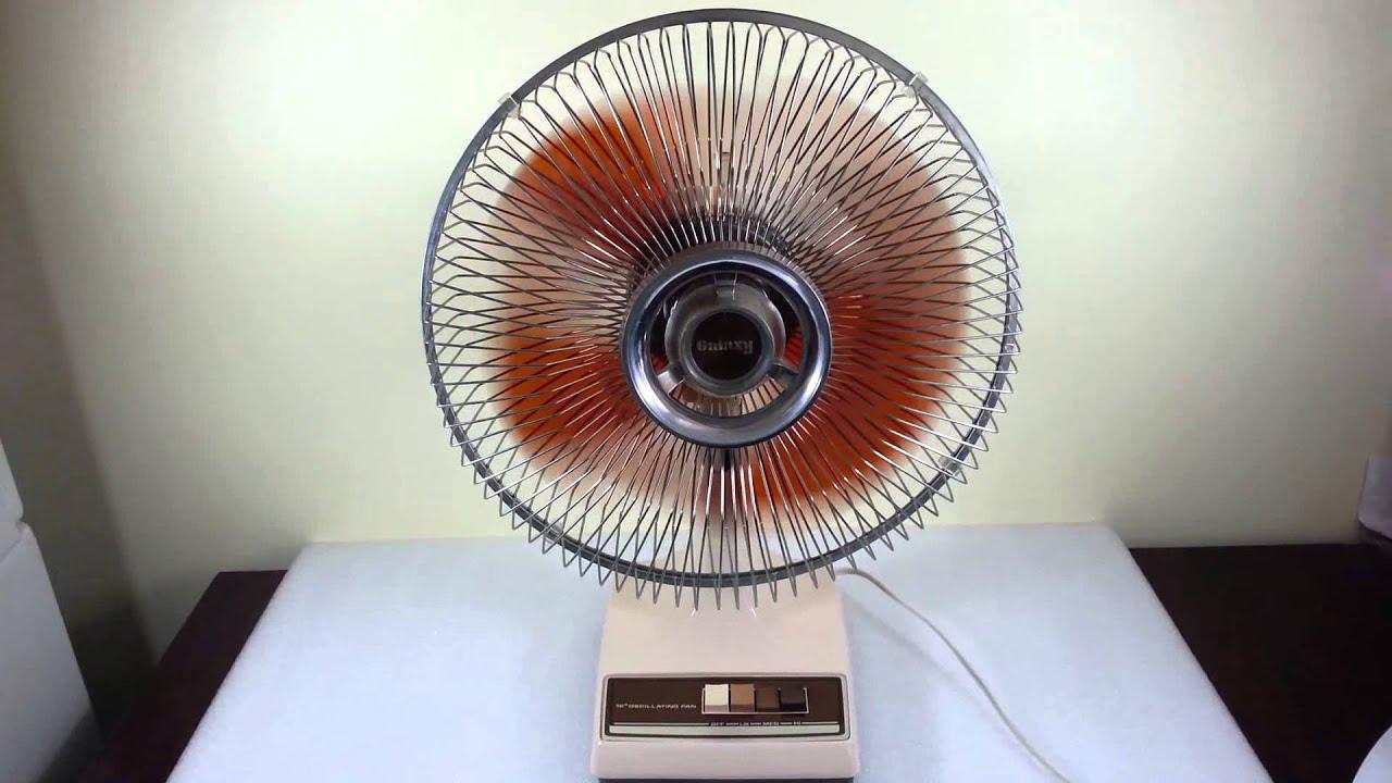 Galaxy Pedestal Fan : Vintage galaxy speed quot oscillating fan style k cr